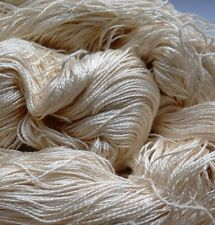 Luxury Maharaja Laceweight Silk Yarn, 115g. Cream. Weaving/Textiles/Crochet/Knit