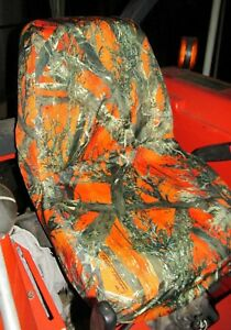 Durafit Seat Covers, Waterproof Kubota Seat Covers for Tractors, Orange Camo