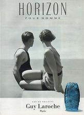 Publicité Advertising 1993 Parfum  Eau de toilette GUY LAROCHE HORIZON
