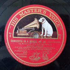 78 rpm ALFRED CORTOT LONDON SYMPH ORC Sir LANDON RONALD SCHUMANN OP54 DB1060 HMV