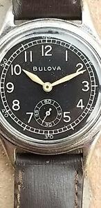 Rare Military BULOVA WW2 Ord Dept vintage cal 10AK 33mm NR