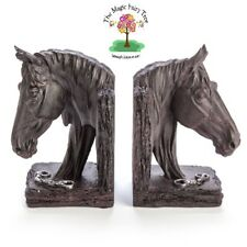 Horse Head Bookends book ends with chains bedroom home decor