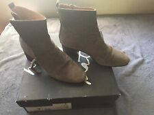 Banana Republic Grey Suede Tall Ankle Boots Size 7