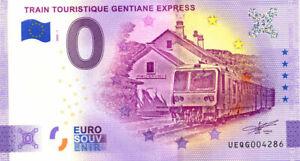 15 RIOM-ES-MONTAGNE Gentiane Express, 2020, Anniversaire, Billet Euro Souvenir