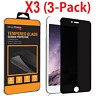 3x Privacy Anti-Spy Tempered Glass Screen Protector Shield for iPhone 6S 7 Plus