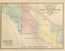 US Pacific Railroad c. 1855 geological survey San Diego Colorado River