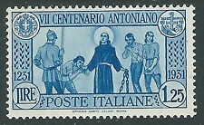 1931 REGNO S. ANTONIO 1,25 LIRE MH * - CZ20-4