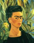 Print -    Self portrait with bonito - by Frida Kahlo