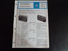 Schaltbild  Service Informationen Telefunken partner compact 101  exlusiv 401