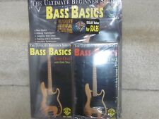 Bass Basics-The ultimate beginner series-book & 2 vhs tapes-new'old stock