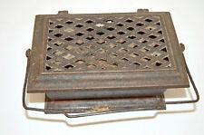 JOLIE CHAUFFERETTE FONTE XIX CHAUFFE PIEDS déco outil ancien collection cheminée
