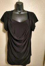 Saint Tropez West women's black knit top, size XL