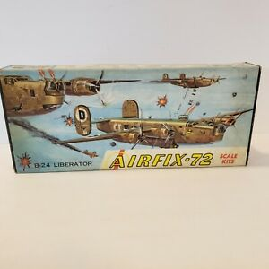 AIRFIX 1/72 B-24 LIBERATOR partially started has instructions and stickers as is