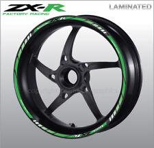 ZXR Ninja quality wheel decals stickers rim stripes zx6r zx9r zx10r zx14r green