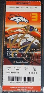 Peyton Manning Signed 2013 Broncos 7 TD's Ticket Stub AUTO STEINER PSA/DNA MINT