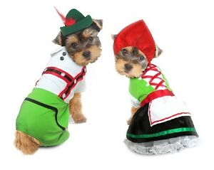 Alpine Costumes For Dogs Octoberfest Bavarian Beer Maiden Costume Or Swiss Boy