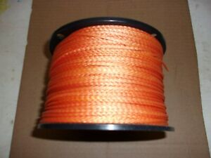 "1/8"" wide x 800' Flat Braided Orange Nylon / Lashing / Cord / Twine / String"