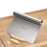 Pizza Cutter Measuring Pan Stainless Steel Bench Scraper Kitchen Baking Tools