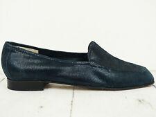 ALFREDO GIANTIN ♫ Damen Mokassin Halbschuhe Gr. 39.5 Leder Blau Woman Shoes
