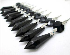 20 PCS Lot Glass Crystals Chandelier Lamp Part Prisms Hanging Drop Pendants 3''