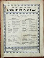 Two Bourrees by Henry Purcell, Graded British Piano Pieces, Augener Ltd. 1918