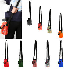 Outdoor Water Bottle Carrier Insulated Cover Bag Holder Shoulder Strap Pouch