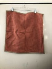 """POTTERY BARN 20"""" Pillow Covers CORAL/ORANGE 100% Cotton, Linen Feel, Woven"""