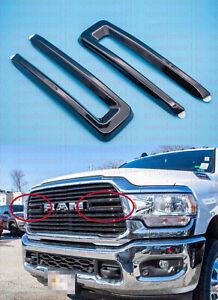 Fit 2019-2021 Ram 2500 3500 4500/5500 Black Front Grille Trim Kit Gloss Black
