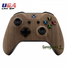 Wood Grain Soft Touch Repair Top Shell for Microsoft Xbox One X One S Controller