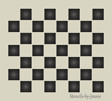 "Country Stencil Checkerboard Family Gameboard 3/4"" Checks DIY Signs Free Ship"