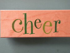 Cheer - Single Word, Large HERO ARTS Rubber Stamp