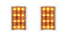 PAIR 1940 Ford LED Turn Signal and Parking Light - Amber LED Lifetime UAPAC