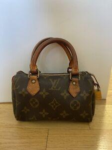 Louis Vuitton Vintage Mini HL Nano Speedy Bag Purse Monogram Keepall Duffle