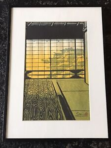 Vintage Japanese Woodblock Print Signed Kasamatsu  Shiro