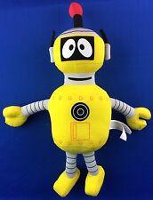 "Extremely Cute Yo Gabba Gabba Yellow Robot Plush Toy 15"" New!"