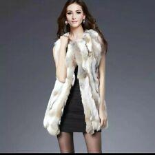 Real Rabbiit Fur Vest Women Coats For Women Gilet