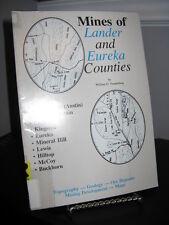 Mines of Lander and Eureka Counties Nevada - Geology Ore Deposits SC Ex Lib.