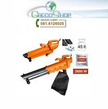 Soffiatore - Aspiratore - Aspirafoglie - Trituratore elettrico 2600W Magnus