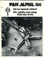P&H Alpha 100 100-ton hydraulic LiftCraft 85% stability load roatings PCSA