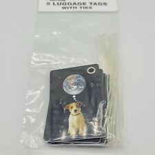 Luggage Tags With Ties 5 Pack Dog World Puppy  Earth Double Sided Travel New