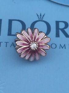 Genuine Pandora Pink Daisy Flower Charm 788775c01 Rose Gold