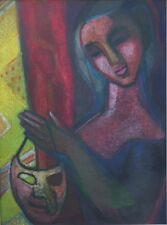 Junge Frau mit Maske, großer Expressionist um 1930