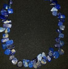 """17"""" Lapis Lazuli Necklace With 925 Sterling Silver Fastening"""