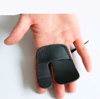 Cow Leather Archery Finger Tab For Recurve Bows Hunting Finger Protector Black