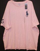 Polo Ralph Lauren Big & Tall Mens 3XB Pink Heather Big Pony Polo T-Shirt NWT 3XB