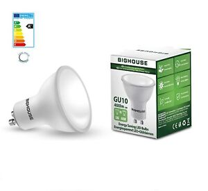 BIGHOUSE GU10 Energy Saving LED Bulbs Equivalent,40W Halogen, 5W, Daylight White