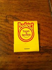 Yellow BUDGET Tapes & Records MAXELL 8 Track Cartridges Cassettes Matchbook New