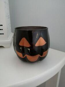 Yankee Candle Holder Halloween Pumpkin Black jack o lantern
