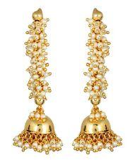 Indian Earrings Jewelry Bollywood Gold Plated Ethnic Wedding Jhumka Jhumki Set