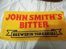 NEW BAR BEER CLOTH TOWEL JOHN SMITH BITTER FROM1980s